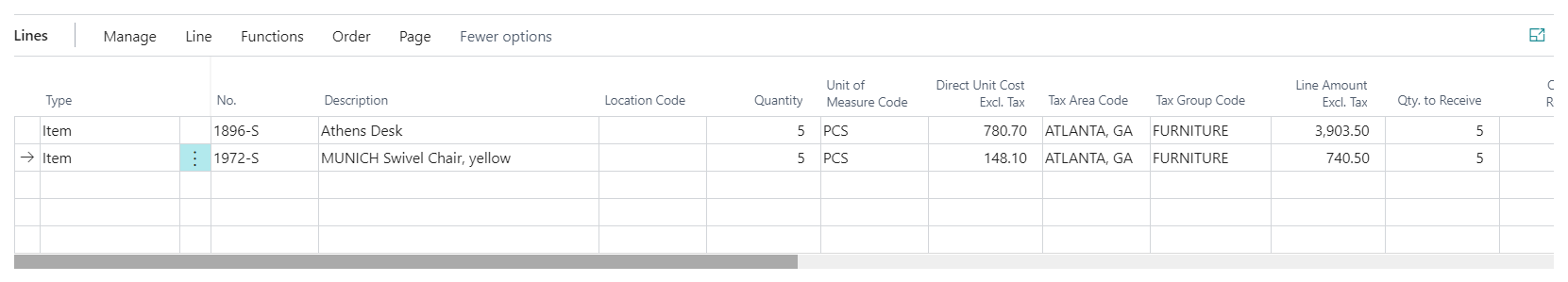Dynamics 365 Business Central - Drop Ship Purchase Order